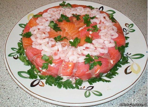 рецепты салатов с фото с рыбой